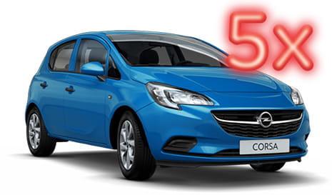 Soutěž o 5-krát Opel Corsa